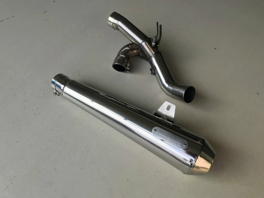 EXC515 Moto Guzzi Bellagio 940 ie LY000 2008 Mikalor Stainless Exhaust Clamp