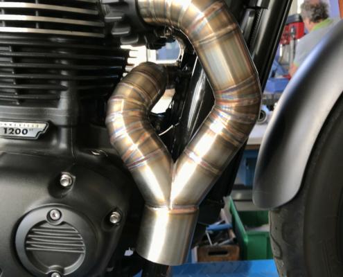 Triumph Bonneville T120 - Scarico completo - Mistral Special Parts